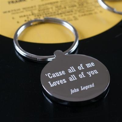 Favourite Lyric Keyring