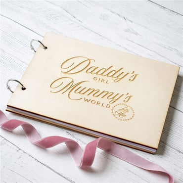 Mummy's & Daddy's Wooden Baby Record Book
