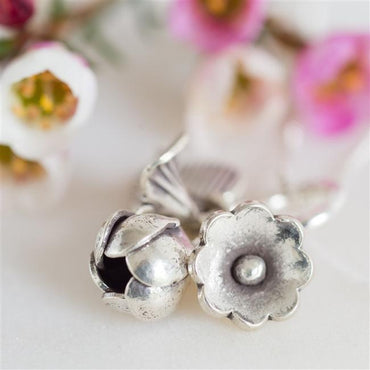 Sterling Flower Bouquet Necklace