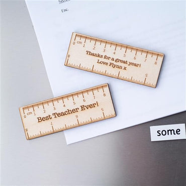 Personalised Teacher Ruler Magnet x 2