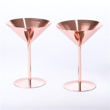 Rose Copper Cocktail Glass
