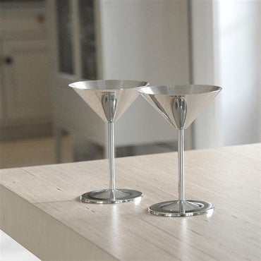 Stainless Steel Cocktail Glass