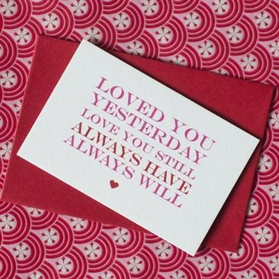 Five Mini Love Quote Cards