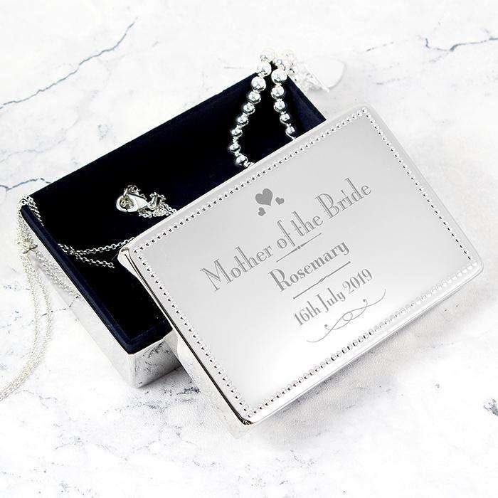 Personalised Decorative Wedding Jewellery Box