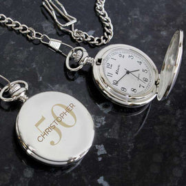 This Personalised Big Age Pocket Fob Watch