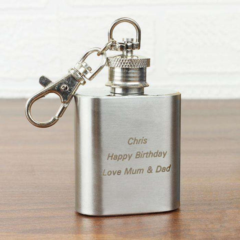 Personalised 1oz Hip Flask Keyring