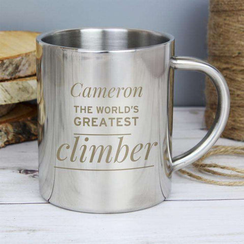 Personalised 'Any Message' Stainless Steel Mug