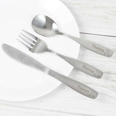 Personalised 4 Piece Cutlery Set