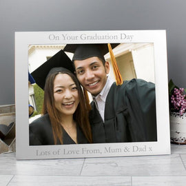 Personalised 10 x 8 Silver Photo Frame