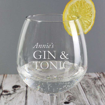 Personalised Balloon Gin & Tonic Glass
