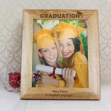 Personalised 8x10 Graduation Wooden Photo Frame
