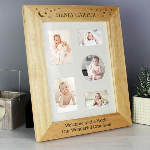Personalised 8 x 10 Little Stars Wooden Photo Frame