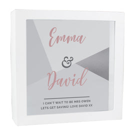 Personalised Wedding Fund and Keepsake Box