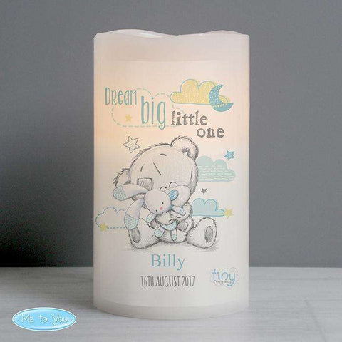 Personalised Tiny Tatty Teddy Nightlight LED Candle