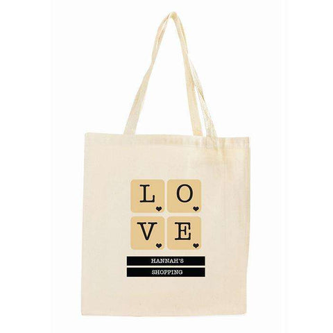 Personalised LOVE Tiles Cotton Bag