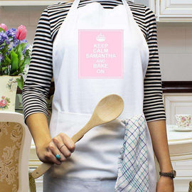 Personalised White Apron