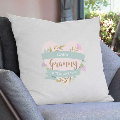 Personalised Floral Mother's Day Cushion Cover