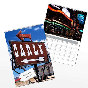 Personalised All American A4 Wall Calendar
