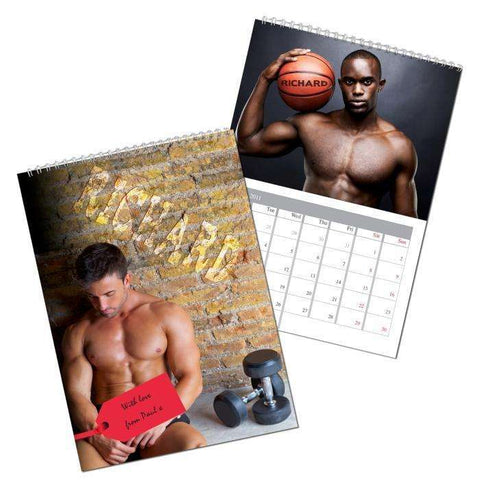 Personalised Hot Hunks A4 Wall Calendar