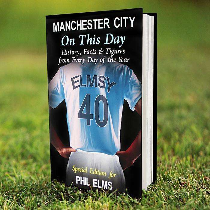 Personalised Manchester City On This Day Book