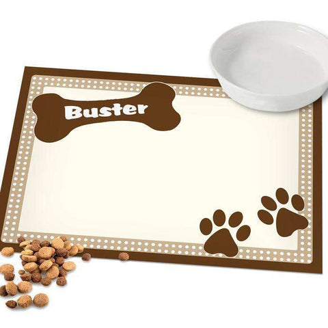 Personalised Brown Place Mat