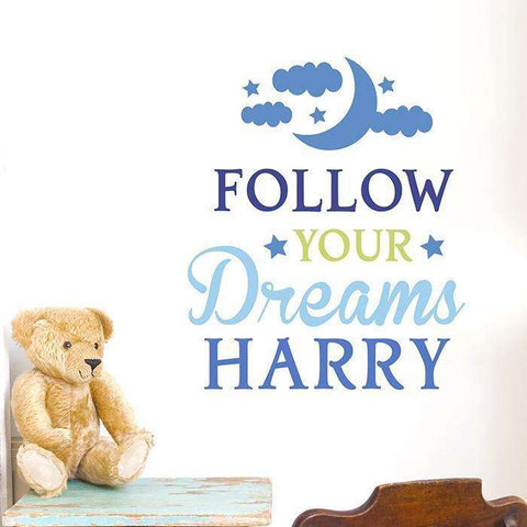 Personalised Follow Your Dreams Wall Art