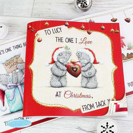 Personalised Me to You Christmas Poem Book The One I Love