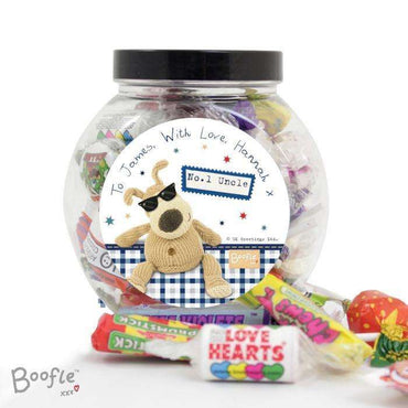 Personalised Boofle Stars Sweet Jar