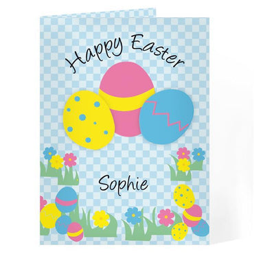 Personalised Happy Easter Egg Card