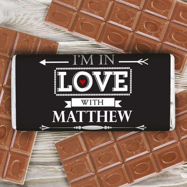 Personalised In Love With Milk Chocolate Bar