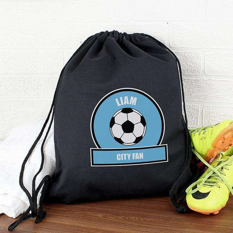 Personalised Football Fan Swim & Kit Bag