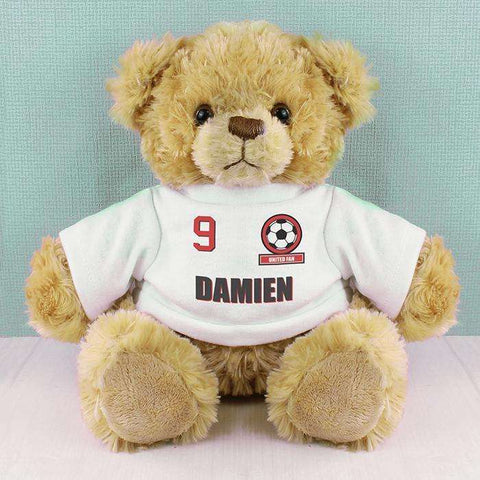 Personalised Football Fan T-Shirt Message Bear