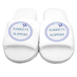 Personalised Butterfly Velour Slippers