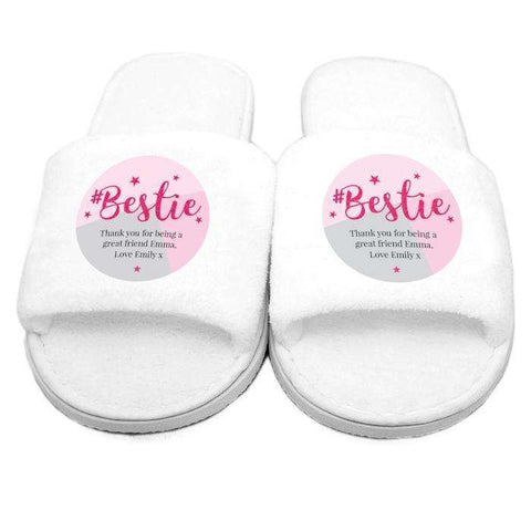 Personalised #Bestie Slippers