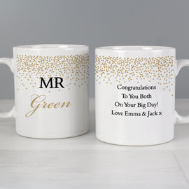 This Gold Confetti Mug Set