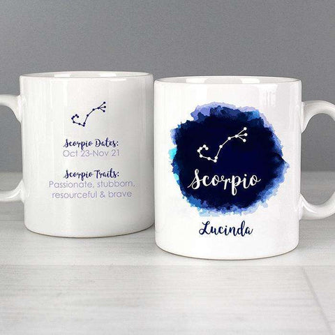Personalised Scorpio Zodiac Star Sign Mug