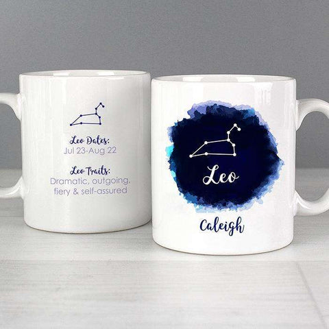 Personalised Leo Zodiac Star Sign Mug