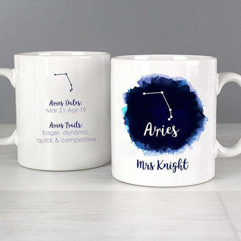 Personalised Aries Zodiac Star Sign Mug