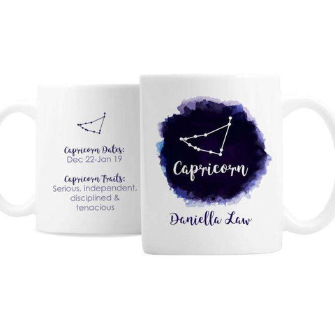 Personalised Capricorn Zodiac Star Sign Mug
