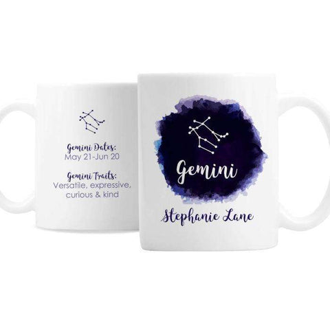 Personalised Gemini Zodiac Star Sign