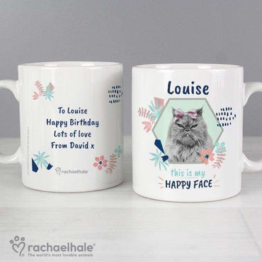 Personalised Rachael Hale 'Happy Face' Cat Mug