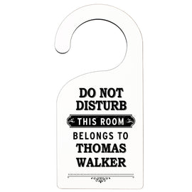 Personalised Black 'Do Not Disturb' Door Hanger