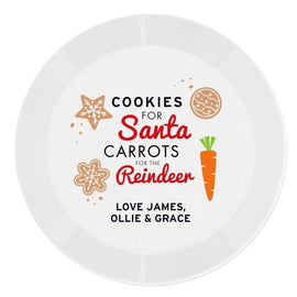 Personalised Cookies for Santa Christmas Eve Plastic Plate