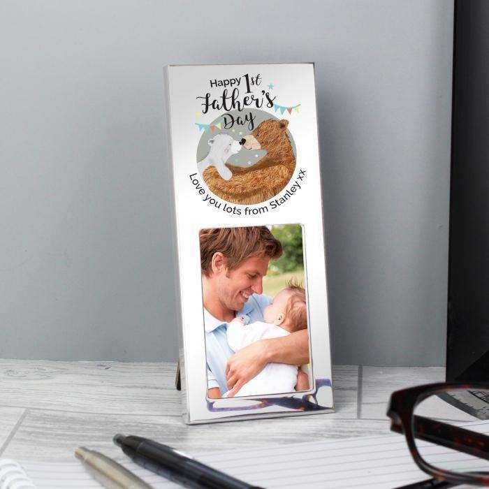 Personalised 2 x 3 Photo Frame 1st Fathers Day Daddy Bear