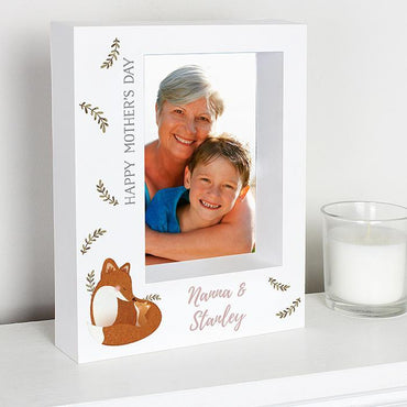 Personalised Mummy and Me Fox 5 x 7 Box Photo Frame