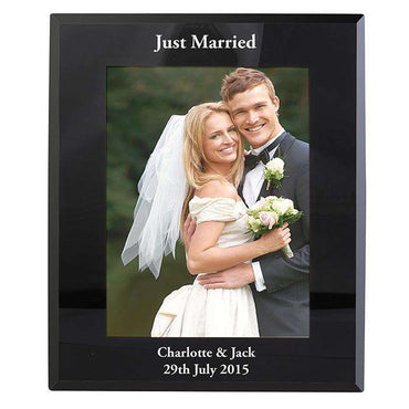 Personalised Black Glass 5x7 Photo Frame