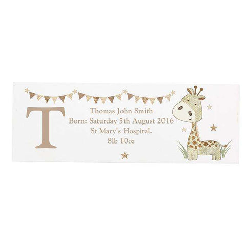 Personalised Hessian Wooden Block Sign