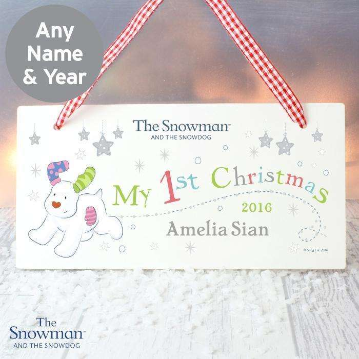 Personalised The Snowman and the Snowdog My 1st Christmas