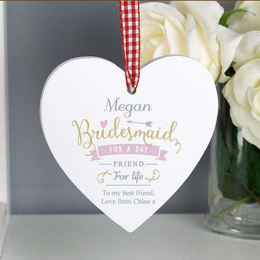 Personalised I Am Glad... Wooden Heart Decoration
