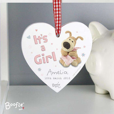 Personalised Boofle Wooden Heart Decoration